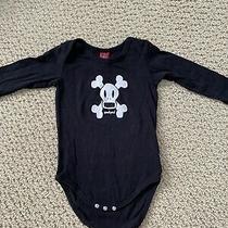 Paul Frank Small Paul Black Unisex Baby One-Piece Bodysuit - Size 6-12 Months Photo