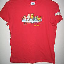Paul Frank Surf Red Surfing T Tee Surfboard Shirt Top Girls L Large Photo