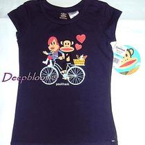 Paul Frank Top Tee Shirt Girls Bicycle 4 Blue New 24 Photo