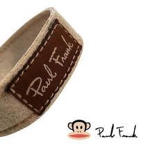 Paul Frank Unisex Cuff Wristband Glazed Eige/brown Bracelet Faux Leather  Os Photo