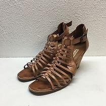Paul Green Christy Cognac Leather Huarache Sandals Womens Size Uk 5.5 Us 8 Photo