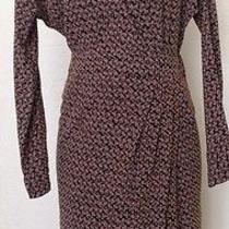 Paul & Joe Sister 100% Silk Faux Wrap Dress Size 42 Photo