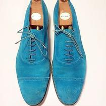 Paul Smith Teal Blue Suede Burton Dress Shoes Uk 10 Us 11.5 Shoe Trees Included Photo