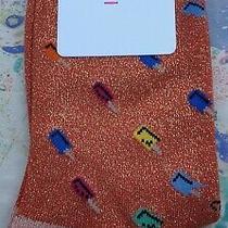 Paul Smith Women Italian Socks Fantasia Ice Lolly Orange Gold K697 1-Size Cotton Photo