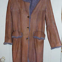 Paul Smith Women Pink and Purple Italian Shearling Coat Sz 42 8 Fantasy Photo