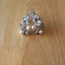 Pave Crystal Earrings Finsihed With Swarovski Crystals  Photo