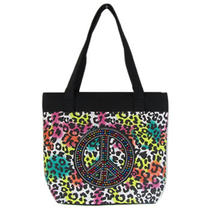 Peace Rainbow Hippie Love Purse Tote Handbag Beach Bag Diaper Travel Dance  Photo