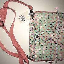 Peach and Lavender Print Fossil Crossbody/ Clutch Photo