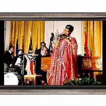 Pearl Bailey Sings Richard Nixon Plays Piano Belt Buckle Sturdy Metal Usa Made Photo