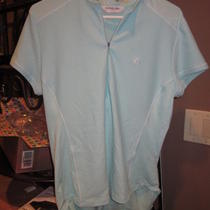 Pearl Izumi Ladies Aqua 1/4 Zip Cycling Jersey Shirt W Rear Pockets Sz L  Photo
