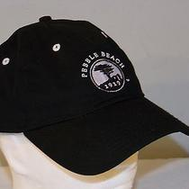 Pebble Beach Golf Hat Black One Size Made by the Game   Photo