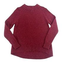 Pendleton Womens Large Lambs Wool Sweater Red Tunic Pullover Colored Flecks  Photo