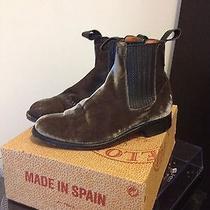 Penelope Chilvers Velvet Chelsea Boots Quartz Sz. 8.5 Rare  Lightly Used Photo
