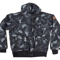 Penfield Dpm Jacket Downstroke Camo Black Sz L Hooded Full Zip Photo