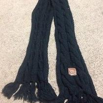 Penfield Men's Scarf Black One Size Outdoor Outdoors Dress Cable Knit Woven Photo