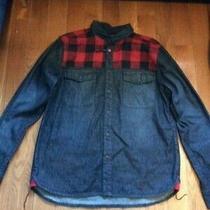 Penfield Mens Denim Plaid Jean Jacket - Size Large Photo