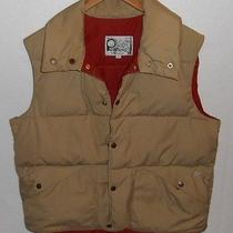 Penfield Trailwear Large Puffy Quilted Goose Down Beige Vest Jacket Photo