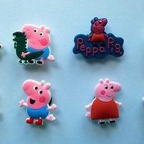 Peppa Pig New 8 Pc Croc Jibbitz Bracelet or Shoe Charms Accessories - Us Seller Photo
