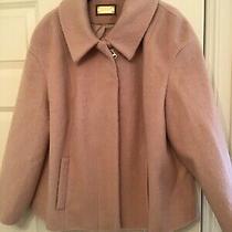 Per Una Ladies Blush Pink Coat Size 14 Very Good Condition Photo