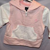 Perfect Cute Pink Hooded Striped Polka Dot Jacket W/ Ears Baby Gap 3-6 Month Photo