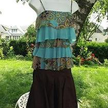 Perfect Daisy & Clover Tiered Mesh Top Cabi Brown Cotton Tulle Skirt Set Xs/2 Photo