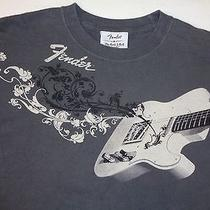 Perfect Men's Fender Classic Rock and Roll Lifestyle Graphic Tshirt Medium Photo