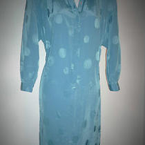 Perfect Vintage Liz Claiborne Op Art Blue Shirt Dress Career Travel Fun Business Photo