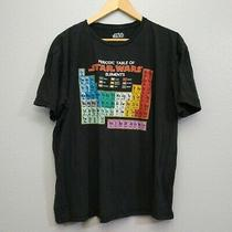 Periodic Table of Star Wars Mens Size 2xl  Elements Black T-Shirt Short Sleeve Photo