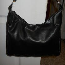  Perlina New York Soft Black Leather Silver Hardware Hobo Shoulder Bag Photo
