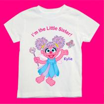 Personalized Abby Cadabby Little Sister Shirt Avail With Any Words and Name Photo