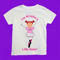 Personalized Ballet Little Sister With Big Sister's Name Any Color and Names Photo