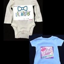 Personalized Big Sister to a Little Mister Match Shirt/onesie Boy/girl Mustache Photo