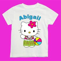 Personalized Hello Kitty Luau Shirt With Your Choice of Colors and Name  Photo