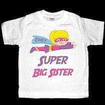 Personalized Super Big Sister Superhero Shirt or Bodysuit Photo