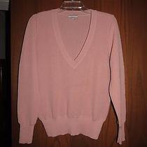 Peruvian Connection Blush Pink Alpaca Knit v-Neck Sweater M Photo