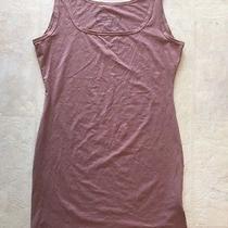 Peruvian Connection Long Scoop Neck Pima Cotton Tank Top Shirt Blush/brown M Photo