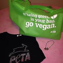 Peta Merch Lot Women's Fitted Bling Rhinestone T-Shirt  Bag  Puzzle Bracelet Photo