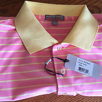Peter Millar E4 Per4mance Elements Summer Comfort Polo L Pink Msrp 89.50 Photo