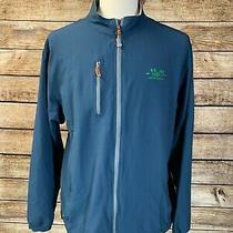 Peter Millar E4 Wind Element Blue Full Zip Jacket Size Xl Golf Photo