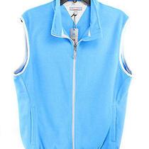 Peter Millar Element 4 Orleans Fleecce Vest Blue Mens L 99 Photo