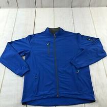 Peter Millar Mens E4 Element Wind Zip Up Indigo Windbreaker Jacket Size Large  Photo