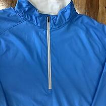 Peter Millar  Mens E4 Wind Half Zip Jacket Size Large Blue New With Tags 1825 Photo