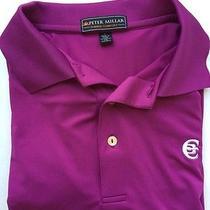 Peter Millar Purple Summer Comfort Element 4 Ss Polo Golf Shirt Large L Mens Photo