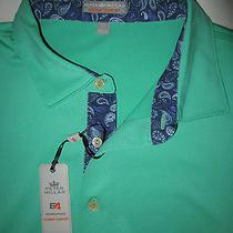 Peter Millar 'Summer Comfort' Element Performance Polo Shirt Eucalyptus Sz L Photo