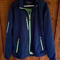 Peter Millar Water Performance Element Wind Full Zip Jacket Blue Large Golf 185 Photo