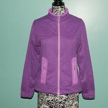 Peter Millar Womens Element Fleece Zip Jacket Purple Sz L Euc  Photo