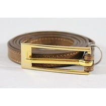 Peter Som Brown Leather Skinny Belt Sz M Photo