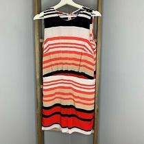 Peter Som for Design Nation Shorts Romper Sz 6 Womens Orange Tan Black Stripe   Photo