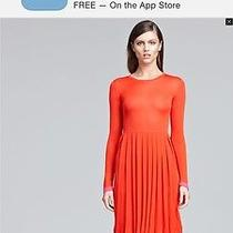 Peter Som Red Pleated Dress Photo