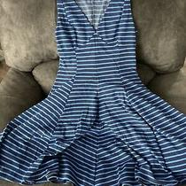 Peter Som Womens Dress Size 10. Blue Stripes Photo